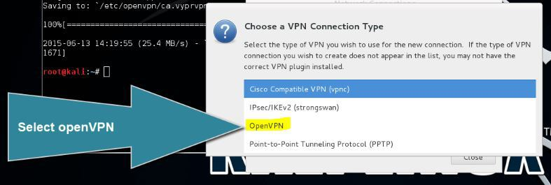 Installing VPN on Kali Linux 3 Installing VPN on Kali Linux